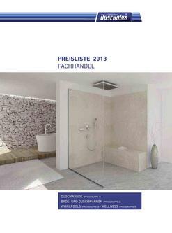 Preisliste 2013 Duschwände