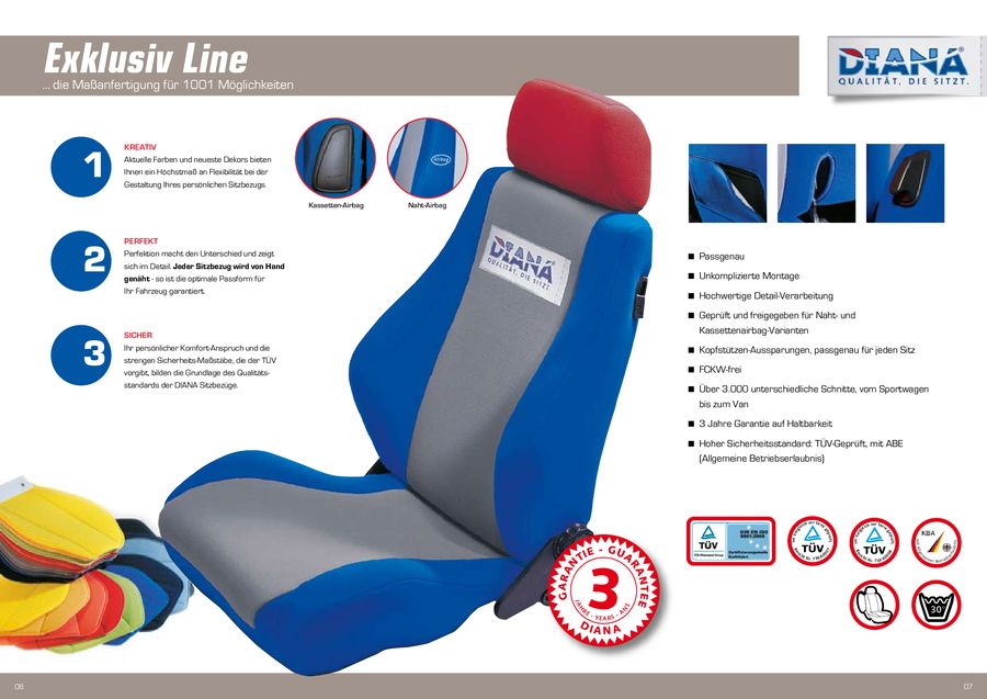 Sitzbezug Kollektion von DIANA Autositzbezüge