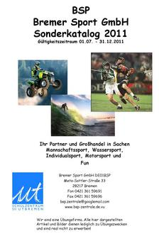Mannschaftssport, Wassersport,  Individualsport, Motorsport 2011