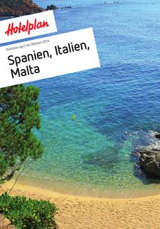 Preisliste Spanien, Italien & Malta April bis Oktober 2014