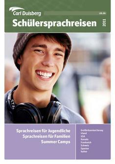 Schülersprachreisen 2011