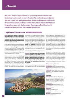 Sprachreisen und Auslandspraktikum Schweiz 2013