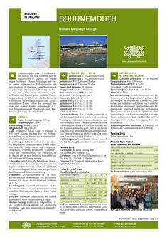 Englisch Sprachreisen in Bournemouth Richard Language College 2011