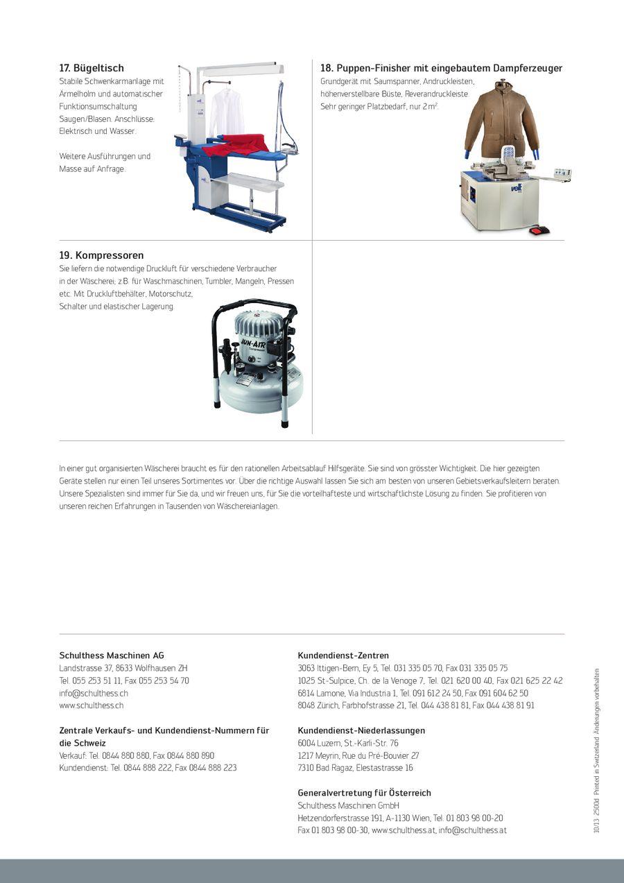Wäschereizubehör 2013 Von Schulthess