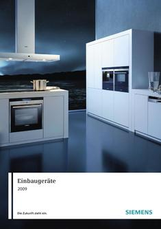 einbauger te 2009 von siemens hausger te schweiz. Black Bedroom Furniture Sets. Home Design Ideas