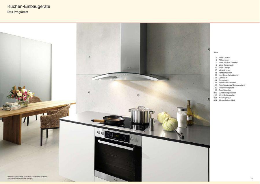 Küchen einbaugeräte classic program von miele deutschland