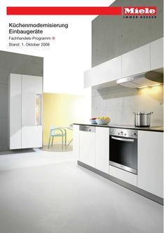 Küchenmodernisierung Einbaugeräte 2008