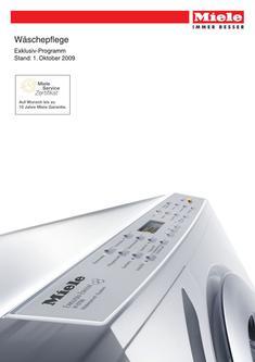 notentriegelung in waschmaschinen trockner exklusiv programm 2009 von miele deutschland. Black Bedroom Furniture Sets. Home Design Ideas