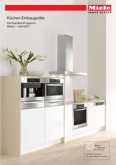 backofen mit dampfgarer in k chen einbauger te elektro fachhandel 2011 von miele deutschland. Black Bedroom Furniture Sets. Home Design Ideas