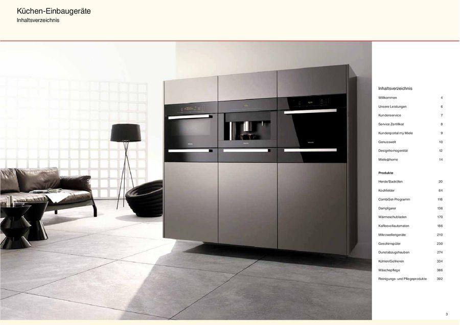 Einbaugeräte  Küchen-Einbaugeräte Classic-Programm 2012 von Miele Deutschland