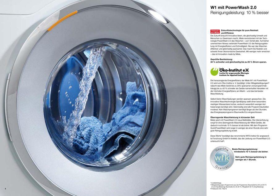 Testsiegerprospekt Waschmaschine WMF 111 WPS 2017 von Miele Deutschland