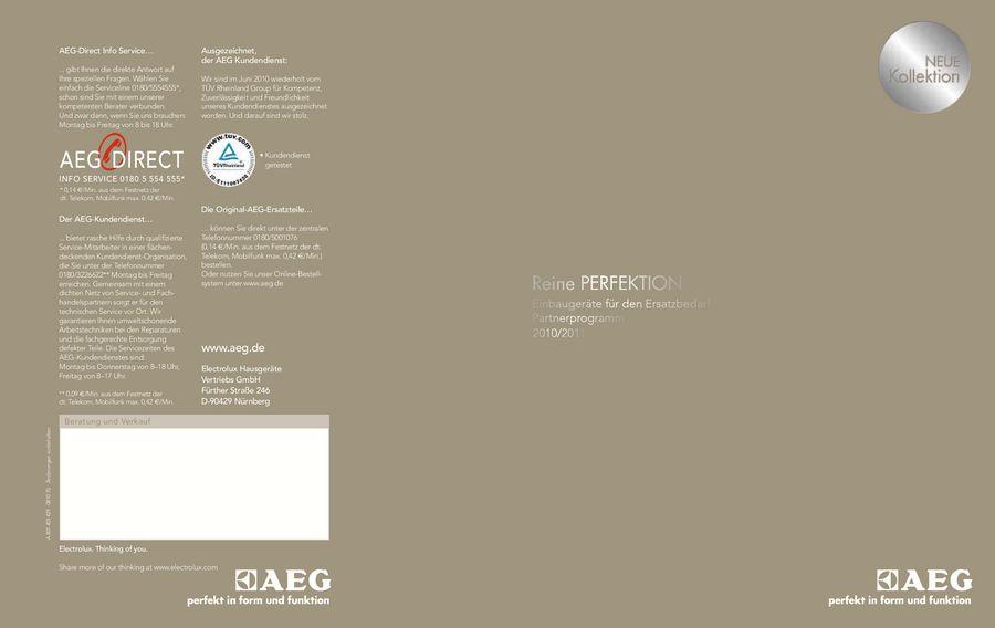 Einbaugeräte Für Den Ersatzbedarf Partnerprogramm 2011 Von AEG Hausgeräte  Deutschland