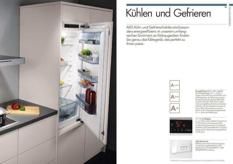 Aeg Kühlschrank Unterbau Integrierbar : Kühlen & gefrieren 2013 2014 von aeg hausgeräte deutschland