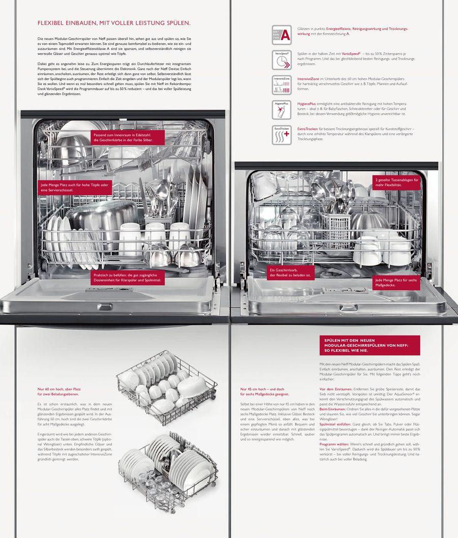Modular-Geschirrspüler 2013 von Neff Küchengeräte
