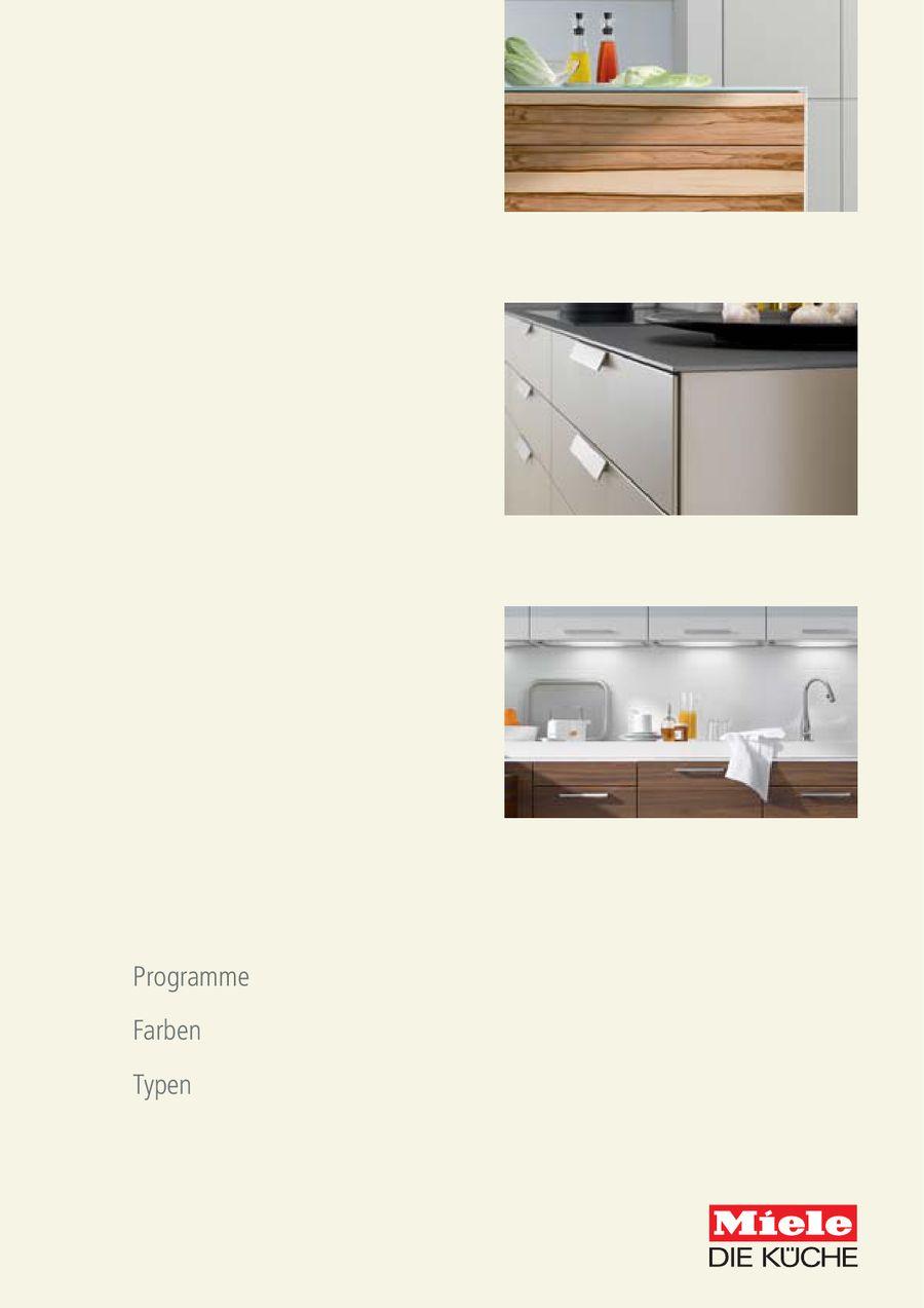 Programme - Farben - Typen von Warendorf Küche (vormals Miele Küchen)