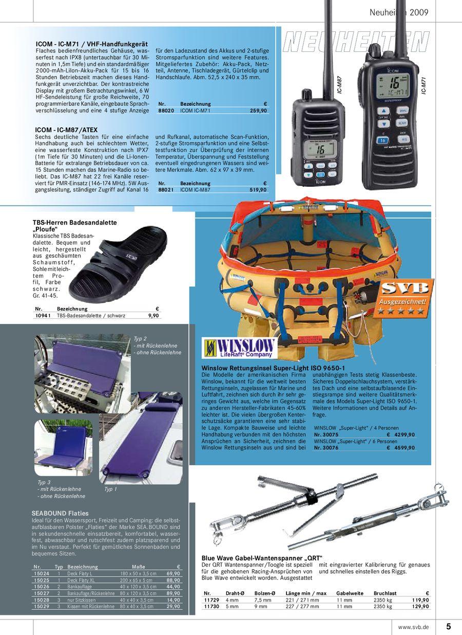 Seite 8 von Technisches Wassersportzubehör 2009