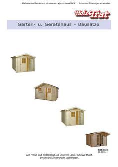 Garten- und Gerätehausbausätze 2011