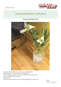 Naturholzboden Collection 2011
