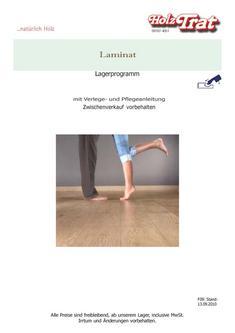 Laminat Lagerprogramm 2011
