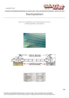 Dachplatten 2014