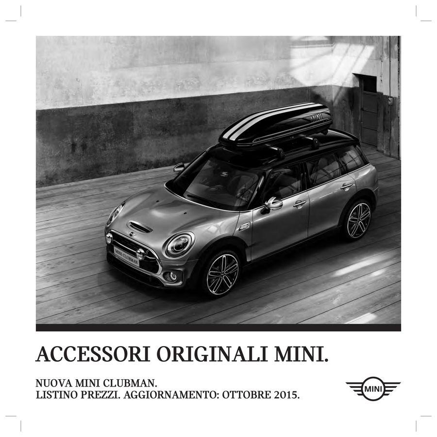 Accessori Mini Clubman Prezzi 2015 Italienisch Von Mini Schweiz