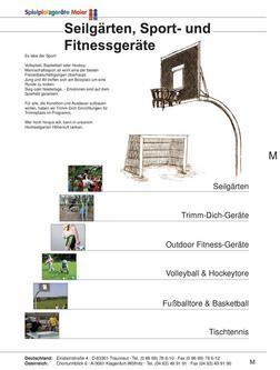 Seilgärten, Sport- & Fitnessgeräte 2010