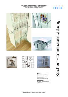 Eckschrank- Unterschrank- und Hochschrankausstattung 2009