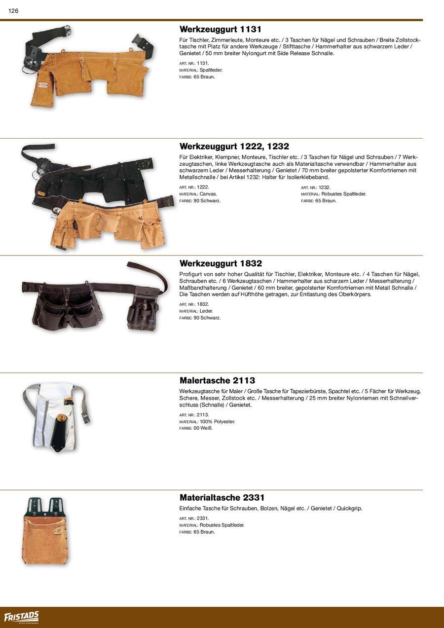 20082009 Von Werkzeuggürtel Fristads 20082009 Werkzeuggürtel WH92YEDI