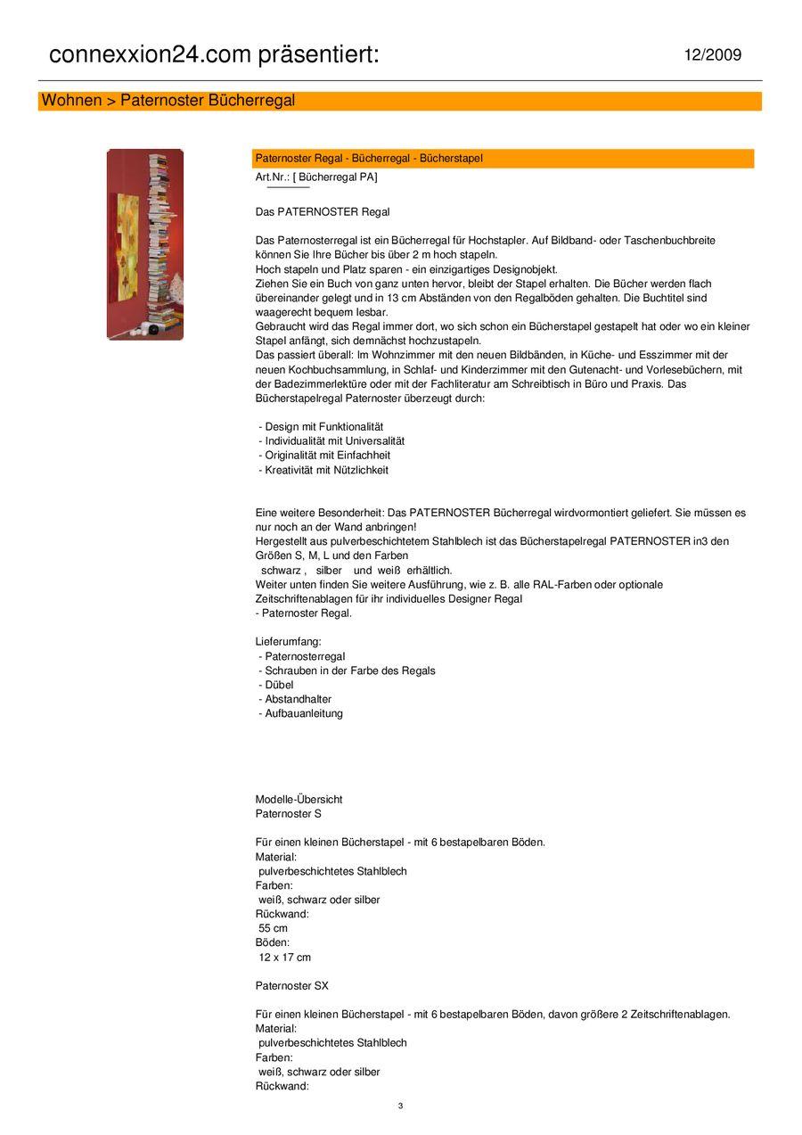 Innovative Wohnideen - Paternoster Regal von connexxion24