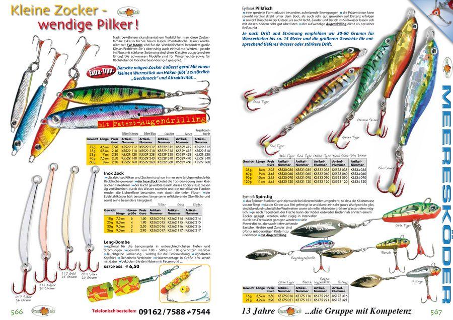 Set fürs Meeresfischen 3 Chrom Pilker /& 4 Top Vorfächer Vorfach Pilker