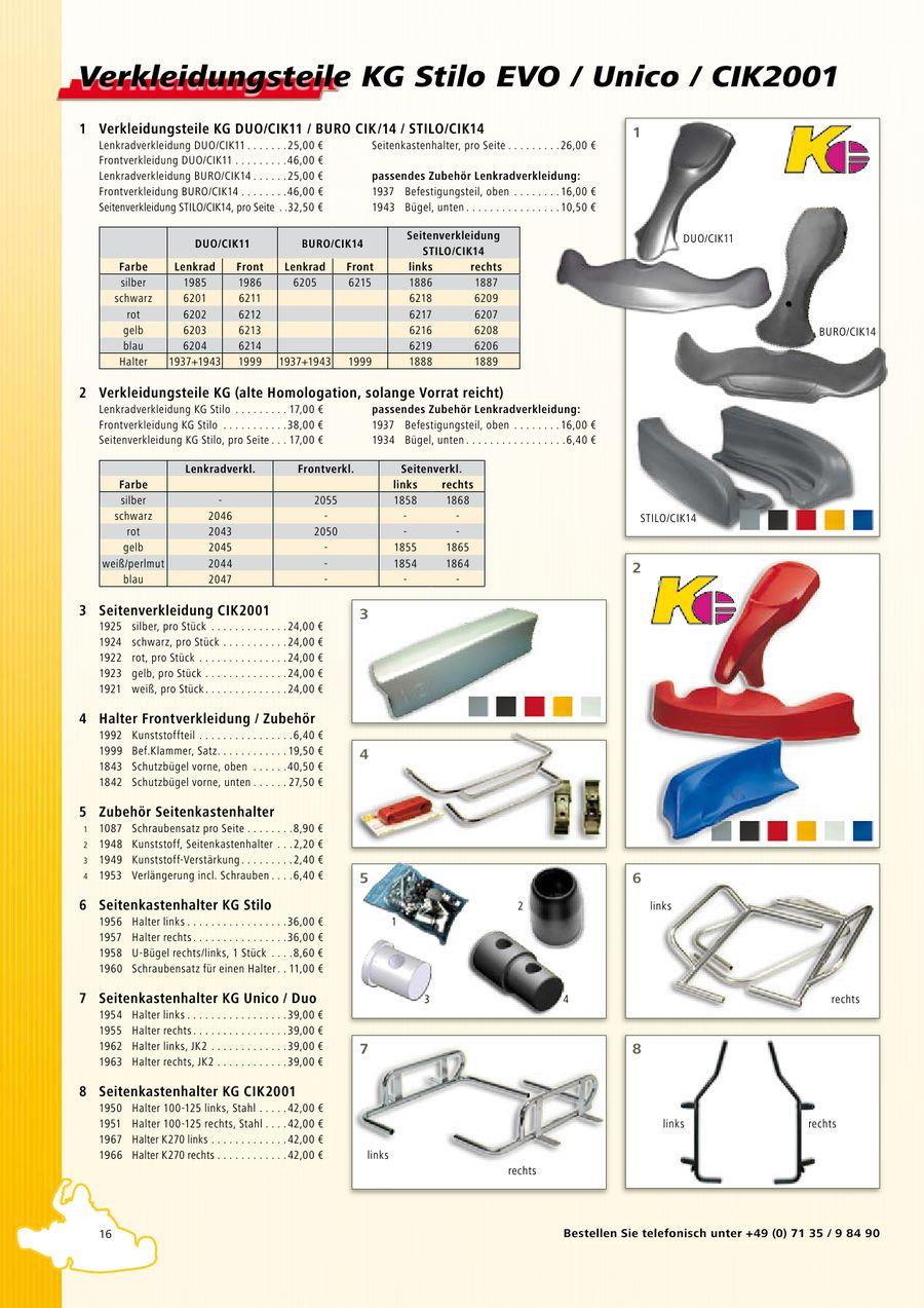 Seite 17 von Kart-Ersatzteile, Motoren und Zubehör 2010
