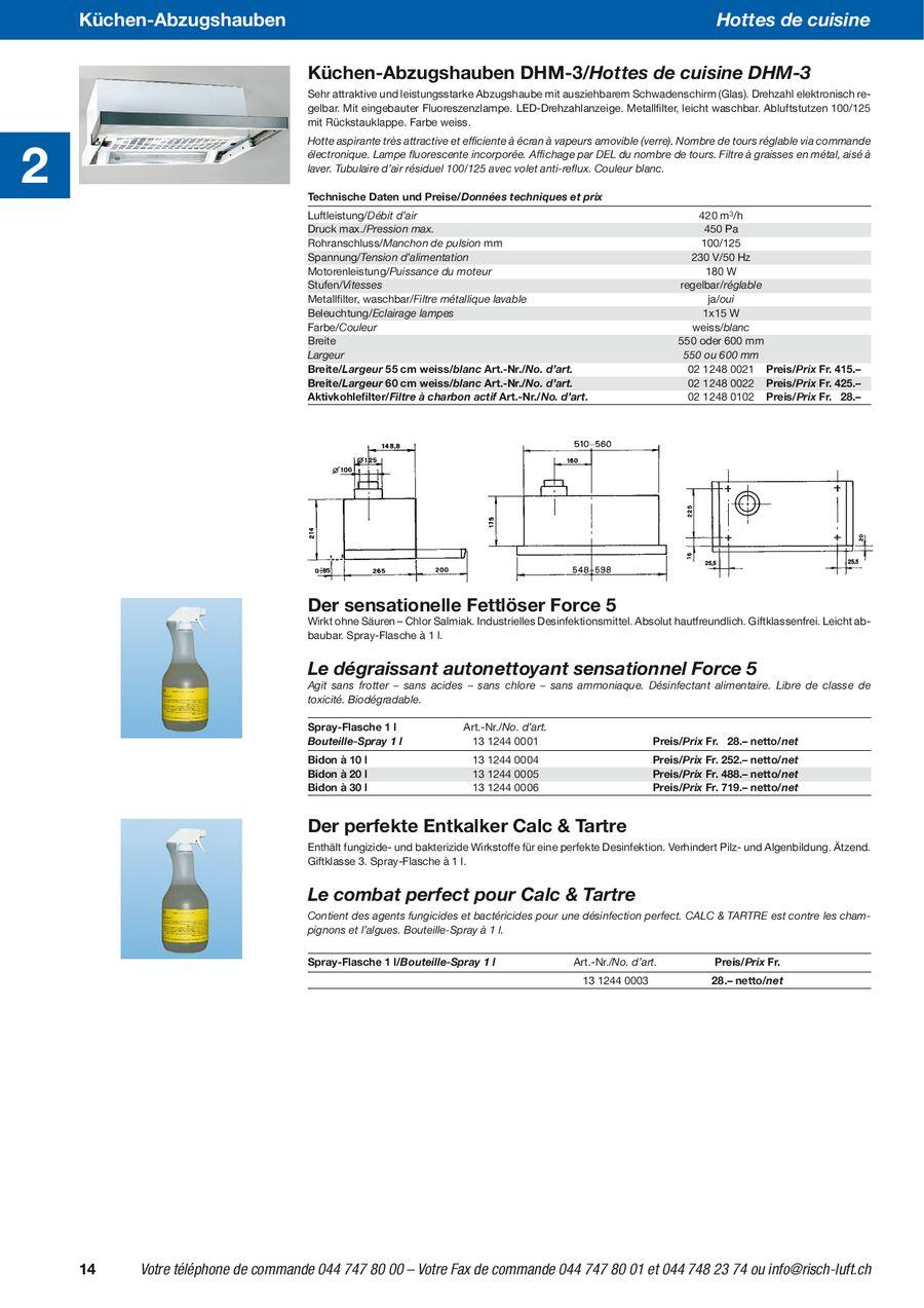 Küchen-Abzugshauben 2009 von Risch Lufttechnik