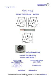 Miniatur Hartmetall Gewindefräser ab M 1,4