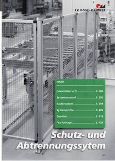 Schutzzäune /Schutabtrennungen / Maschinenhausungen aus Aluminium