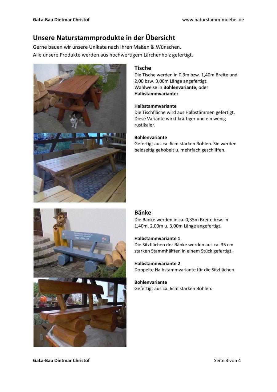 Rustikale Gartenmöbel aus Naturholz von GaLa-Bau Dietmar Christof