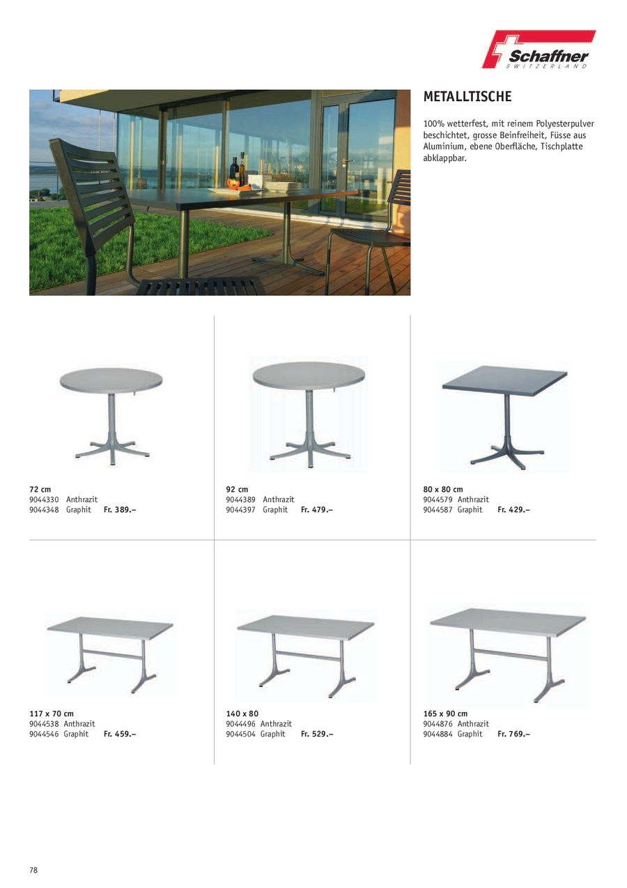 Seite 5 von Schaffner Gartenmöbel 2010