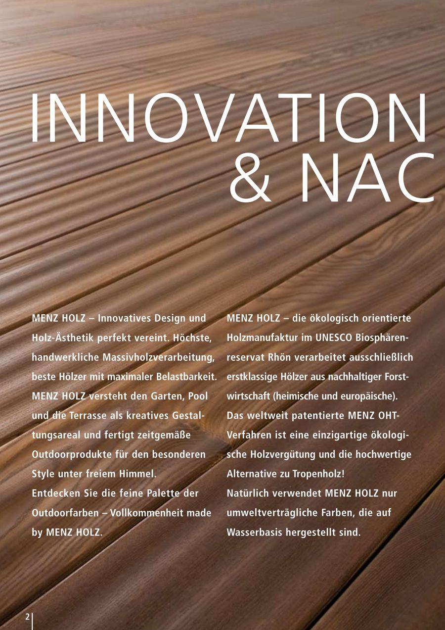 menz outdoor kollektion 2014 von menz holz - Menz Holz Katalog