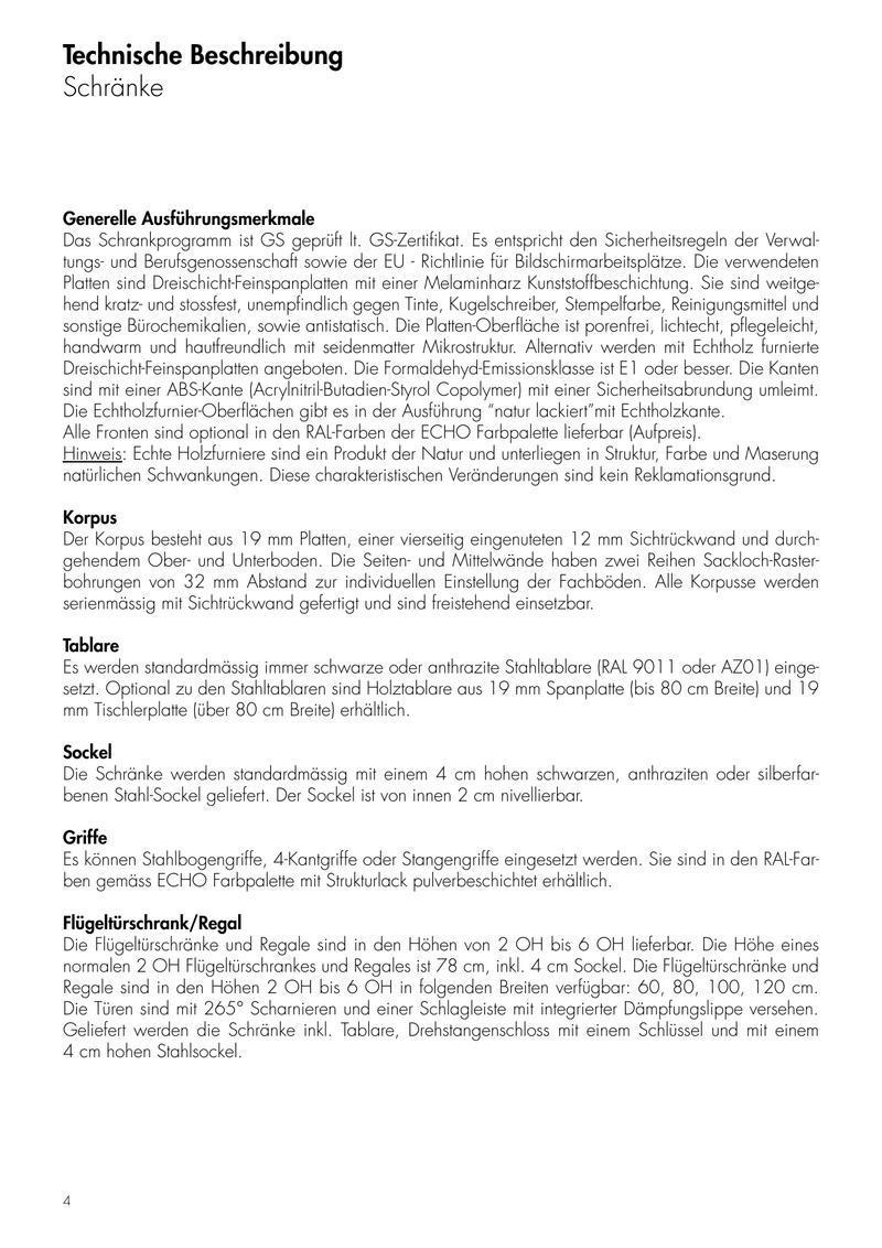 Preisliste Echo Schränke - gültig ab Februar 2007 von Echo Büromöbel ...