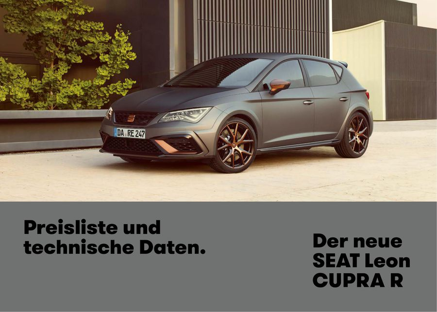 technische daten seat leon cupra modifizierte autogalerie. Black Bedroom Furniture Sets. Home Design Ideas