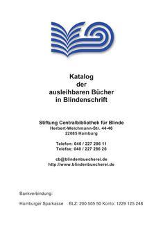 Katalog der ausleihbaren Bücher in Blindenschrift