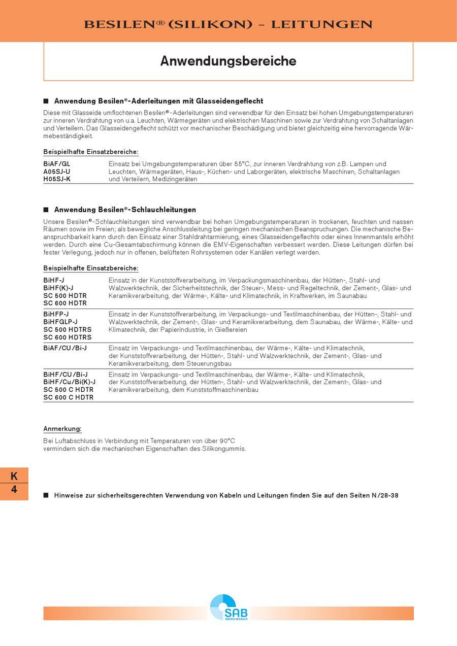 Silikonkabel und Leitungen (Besilen) von SAB Bröckskes