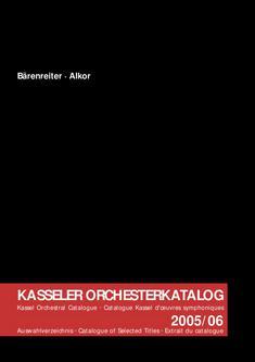Kasseler Orchesterkatalog 2005/06