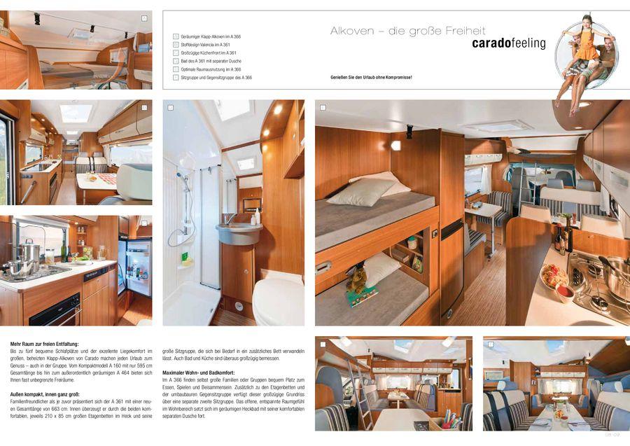 Reisemobil Etagenbett : Reisemobilkatalog 2012 von carado
