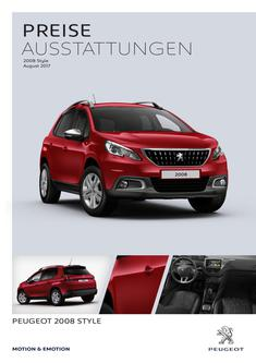 Preise Peugeot 2008 Style August 2017