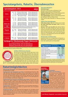 Spezialangebote, Rabatte, Oktober 2011