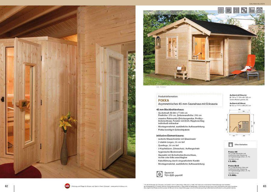 Saunahäuser 20112012 Von Weka Sauna Holzprofi24de