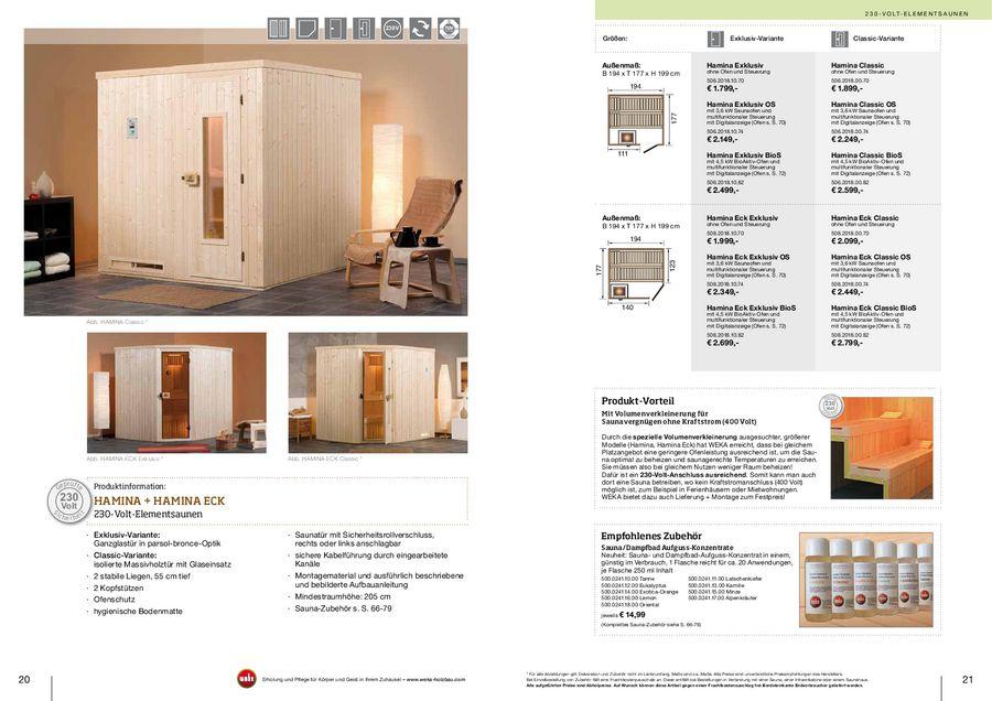 Saunen 20112012 Von Weka Sauna Holzprofi24de
