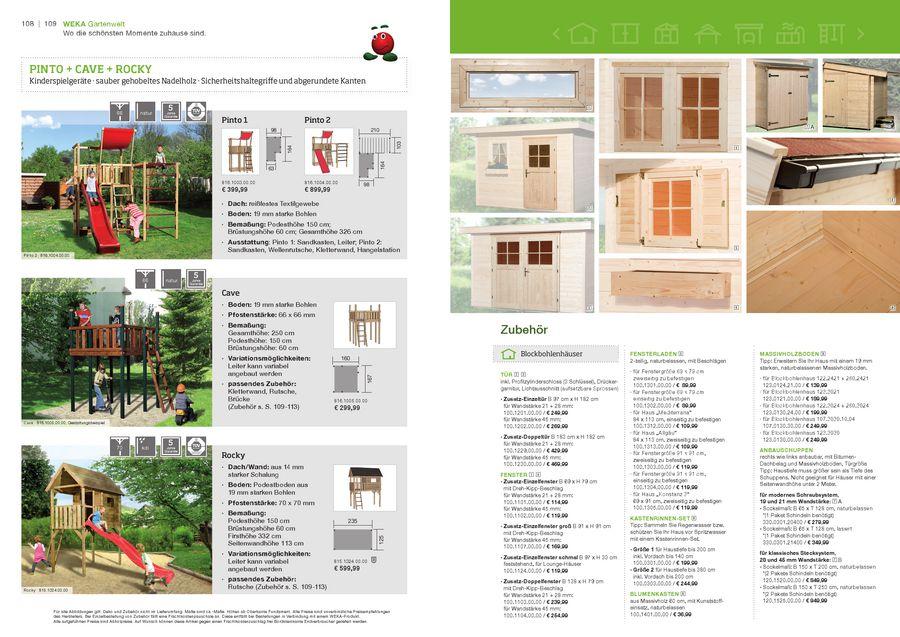 Kinderspielgeräte 2012 Von Weka Sauna Holzprofi24de