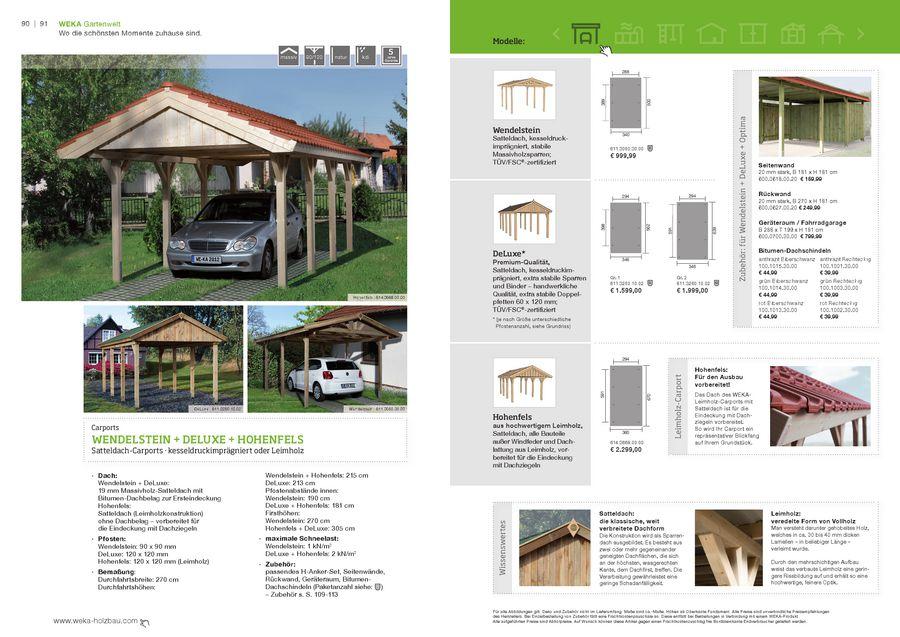 Carports 2012 Von Weka Sauna Holzprofi24de