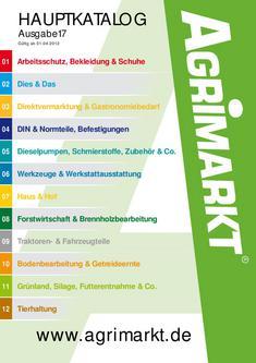 Agrimarkt Hauptkatalog 17 / 2012